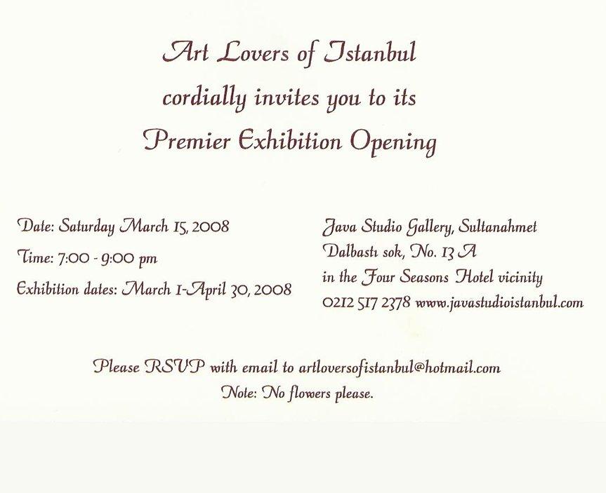 Exhibitions Invitation Cards Raquel Barnatán Spanish