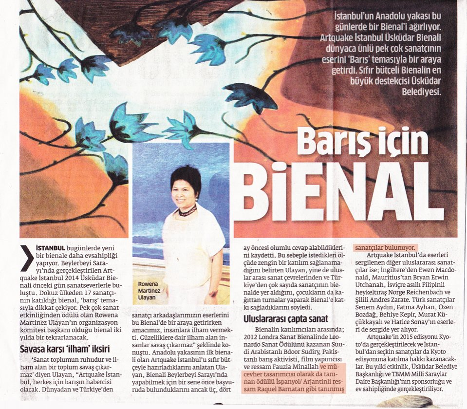 Star Newspaper. Istanbul. September 2014
