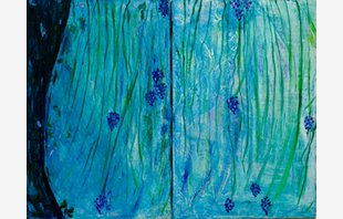 Heart Grapes (diptych)