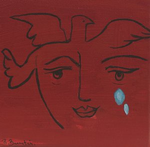 Picassian Face with Tears I