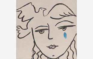 Cara Picassiana con Lágrimas II