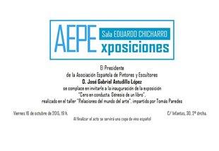 """Invitación para la presentación del libro """"Cero en conducta"""" en la sala de AEPE"""